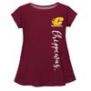 Central Michigan Chippewas Maroon Short Sleeve Laurie Top - Vive La Fête - Online Apparel Store