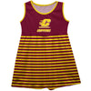 Central Michigan Chippewas Maroon Sleeveless Tank Dress With Gold Stripes - Vive La Fête - Online Apparel Store