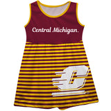 Central Michigan Chippewas Maroon Sleeveless Tank Dress With Gfold Stripes - Vive La Fête - Online Apparel Store