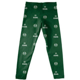 Colorado State University Rams Girls Game Day All Over Logo Elastic Waist Classic Play Green Leggings Tights - Vive La Fête - Online Apparel Store