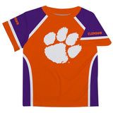 Clemson Orange and Purple Boys Tee Shirt Short Sleeve - Vive La Fête - Online Apparel Store