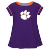 Clemson Solid Purple Laurie Top Short Sleeve - Vive La Fête - Online Apparel Store