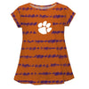 Clemson Tie Dye Orange and Purple Laurie Top Short Sleeve - Vive La Fête - Online Apparel Store