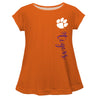 Clemson Tigers Orange Solid Short Sleeve Girls Laurie Top - Vive La Fête - Online Apparel Store