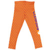 Clemson Quatrefoil Orange Leggings - Vive La Fête - Online Apparel Store