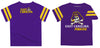 East Carolina Stripe Purple Boys Tee Shirt Short Sleeve - Vive La Fête - Online Apparel Store