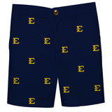 East Tennessee State Buccanneers All Over Blue Print Structured Short - Vive La Fête - Online Children's Apparel