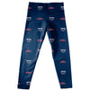 Florida Atlantic Owls Vive La Fete Girls Game Day All Over Logo Elastic Waist Classic Play Navy Leggings Tights - Vive La Fête - Online Apparel Store