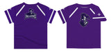 Furman Solid Purple Boys Tee Shirt Short Sleeve