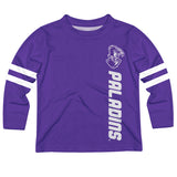 Furman Paladins Stripes Purple Long Sleeve Tee Shirt - Vive La Fête - Online Apparel Store