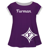 Furman Paladins Big Logo Purple Short Sleeve Girls Laurie Top - Vive La Fête - Online Apparel Store