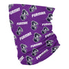 Furman Paladins All Over Logo Purple Neck Gaiter - Vive La Fête - Online Apparel Store