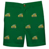 George Mason Patriots Vive La Fete Boys Game Day All Over Logo Green Structured Shorts with Side Pockets - Vive La Fête - Online Apparel Store