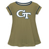 Georgia Tech Solid Gold Laurie Top Short Sleeve
