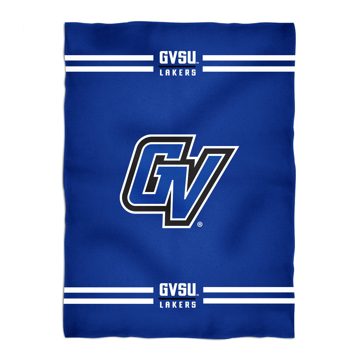 Grand Valley State Lakers Vive La Fete Game Day Soft Premium Fleece Blue Throw Blanket 40