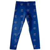 Grand Valley State Lakers Vive La Fete Girls Game Day All Over Logo Elastic Waist Classic Play Blue Leggings Tights - Vive La Fête - Online Children's Apparel