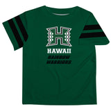 Hawaii Rainbow Warriors Green Tee Shirt Short Sleeve - Vive La Fête - Online Children's Apparel