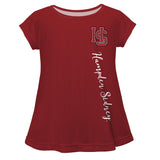 Hampden Sydney Maroon Solid Short Sleeve Girls Laurie Top - Vive La Fête - Online Apparel Store