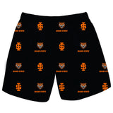 Idaho State  University Bengals ISU Short Black All Over Logo - Vive La Fête - Online Children's Apparel