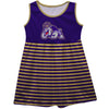 JMU Dukes Vive La Fete Girls Game Day Sleeveless Tank Dress Solid Purple Mascot Stripes on Skirt - Vive La Fête - Online Apparel Store