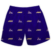 James Madison University Dukes Short Purple All Over Logo - Vive La Fête - Online Apparel Store