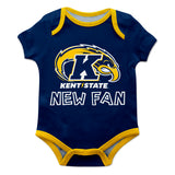 Kent State Golden Flashes Vive La Fete Infant Game Day Blue Short Sleeve Onesie New Fan Logo and Mascot Bodysuit - Vive La Fête - Online Children's Apparel
