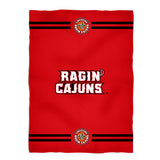 Louisiana At Lafayette Stripes Red Fleece Throw Blanket - Vive La Fête - Online Children's Apparel