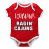 Louisiana At Lafayette Red Solid Short Sleeve Onesie - Vive La Fête - Online Apparel Store