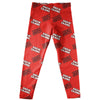 Louisiana At Lafayette All Over Logo Red Leggings - Vive La Fête - Online Apparel Store