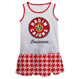 Louisiana At Lafayette Houndstooth White Sleeveless L - Vive La Fête - Online Apparel Store