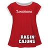 Louisiana At Lafayette Big Logo Red Short Sleeve Girls Laurie Top - Vive La Fête - Online Apparel Store