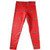 Lamar Cardinals Leggings Red All Over Logo - Vive La Fête - Online Children's Apparel