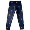 La Salle University Explorers Leggings Navy All Over Logo - Vive La Fête - Online Apparel Store