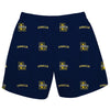 La Salle University Explorers Vive La Fete Boys Game Day All Over Logo Elastic Waist Classic Play Navy Pull On Short - Vive La Fête - Online Children's Apparel