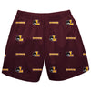 Loyola University Chicago Ramblers Short Maroon All Over Logo - Vive La Fête - Online Children's Apparel