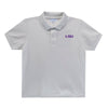 LSU Embroidered  White Polo Box Shirt Short Sleeve