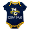 Marquette Golden Eagles Vive La Fete Infant Game Day Navy Short Sleeve Onesie New Fan Logo Bodysuit - Vive La Fête - Online Children's Apparel