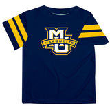 Marquette Golden Eagles Vive La Fete Boys Game Day Navy Short Sleeve Tee with Stripes on Sleeves - Vive La Fête - Online Children's Apparel