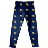 Marquette Golden Eagles Vive La Fete Girls Game Day All Over Logo Elastic Waist Classic Play Navy Leggings Tights - Vive La Fête - Online Children's Apparel