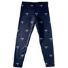 Maine Black Bears Leggings Blue All Over Logo - Vive La Fête - Online Apparel Store