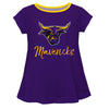 MSU Mavericks Vive La Fete Girls Game Day Short Sleeve Purple Top with School Mascot and Name - Vive La Fête - Online Apparel Store