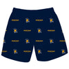 UNC Greensboro Spartans UNCG Vive La Fete Boys Game Day All Over Logo Elastic Waist Classic Play Navy Pull On Short - Vive La Fête - Online Apparel Store
