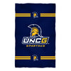"UNCG Spartans Vive La Fete Game Day Absorvent Premium Navy Beach Bath Towel 51 x 32"" Logo and Stripes"" - Vive La Fête - Online Apparel Store"