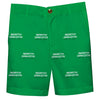 North Dakota Fighting Hawks Green Structured Short All Over Logo - Vive La Fête - Online Children's Apparel