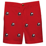 Northern Illinois Huskies Vive La Fete Boys Game Day All Over Logo Red Structured Shorts with Side Pockets - Vive La Fête - Online Apparel Store