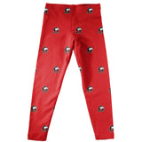Northern Illinois Huskies Leggings Red All Over Logo - Vive La Fête - Online Children's Apparel
