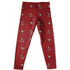 NCCU Eagles Vive La Fete Girls Game Day All Over Logo Elastic Waist Classic Play Maroon Leggings Tights - Vive La Fête - Online Children's Apparel