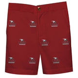 NCCU Eagles Vive La Fete Boys Game Day All Over Logo Maroon Structured Shorts with Side Pockets - Vive La Fête - Online Children's Apparel