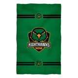 "Northern Virginia NightHawks NOVA Game Day Absorvent Premium Green Beach Bath Towel 51 x 32"" Logo and Stripes"" - Vive La Fête - Online Apparel Store"