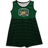 Ohio University Bobcats Green Sleeveless Tank Dress With Black Stripes - Vive La Fête - Online Apparel Store